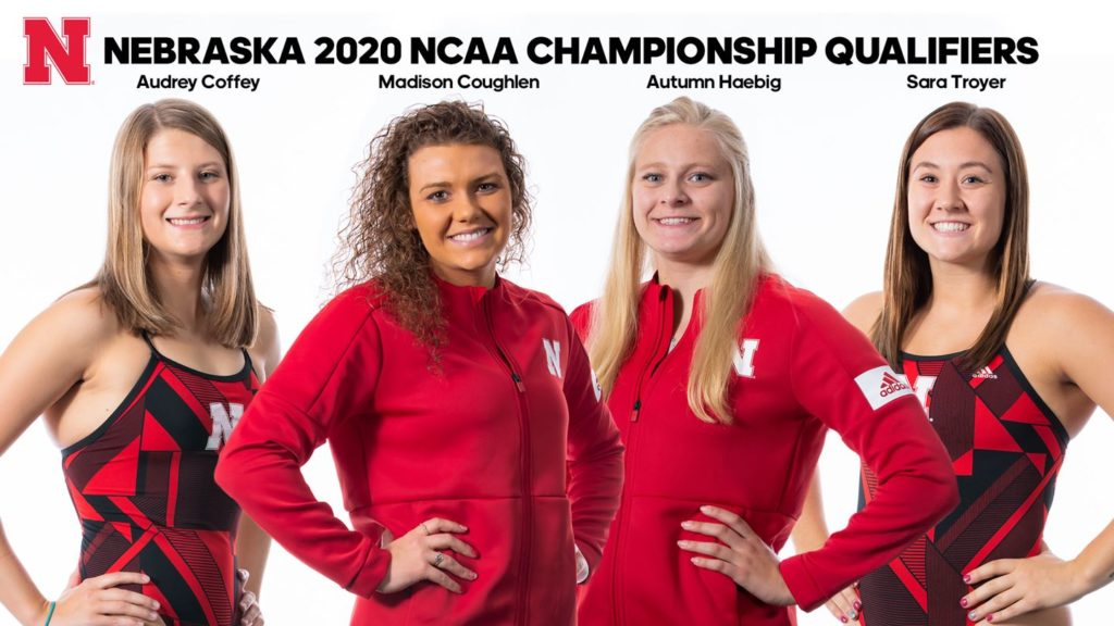 Four Members of Husker Swimming and Diving Team Earn All America Honors