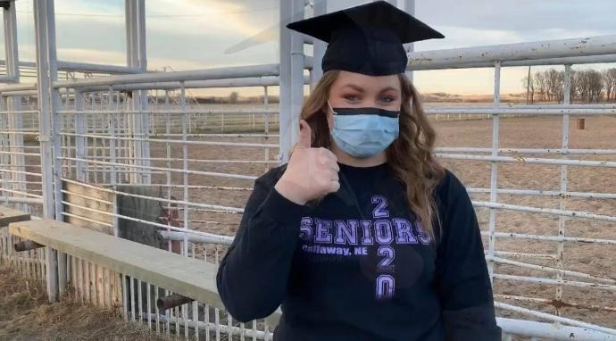 KNOP: High school senior and front line worker, recovering from COVID-19 in rural Nebraska