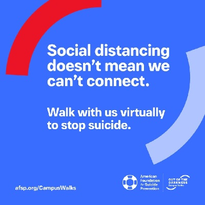 Suicide Prevention Virtual Walk Sponsored by UNL Out of the Darkness Group