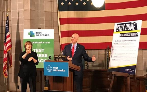 Gov. Ricketts: Relaxed Health Measures in Three More Regions, Care for Nebraskans with Developmental Disabilities