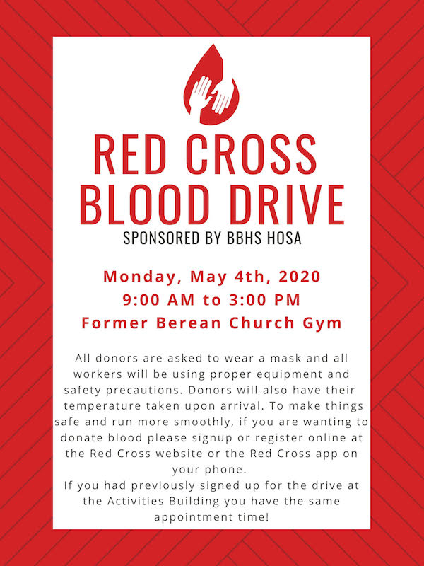 Blood Drive Scheduled May 4 At Old Berean Church In Broken Bow