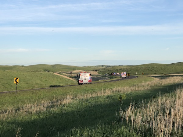 Reported Car Fire Turns Into Minor Grass Fire Tuesday Evening