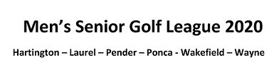 Local Senior Golf League Plans To Begin May 19, Schedule Released