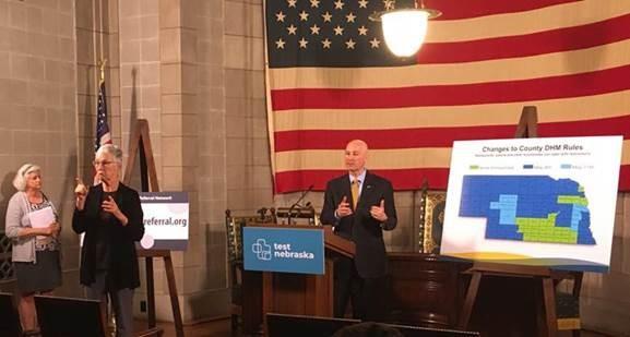 "Ricketts: ""Test Nebraska"" Begins in Grand Island & Omaha, Announces Childcare Referral Resource"