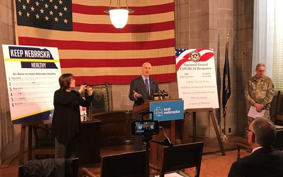 Ricketts Commends Nebraska National Guard Pandemic Work, Affirms State Healthcare System Strength