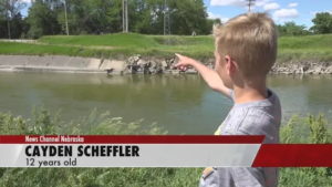 12-year-old boy saves two teenagers and dog from dangerous water
