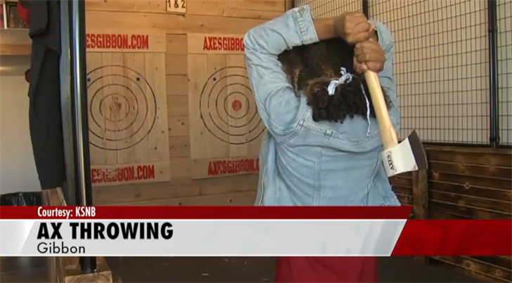 Axe throwing business opens in Gibbon