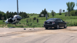 One Injured In Two-Vehicle Accident North Of Broken Bow