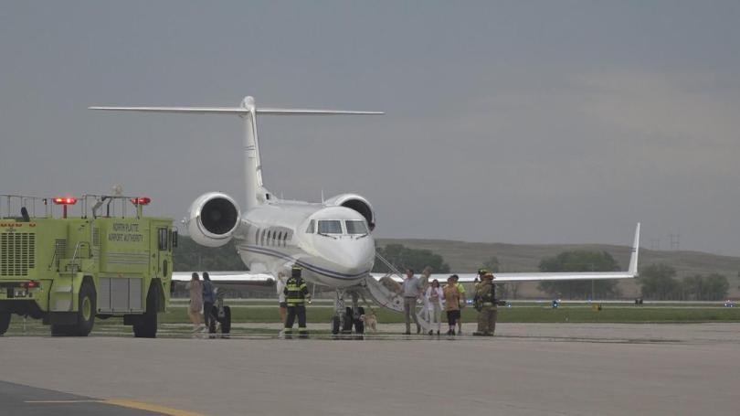Private charter jet makes emergency landing at North Platte Airport