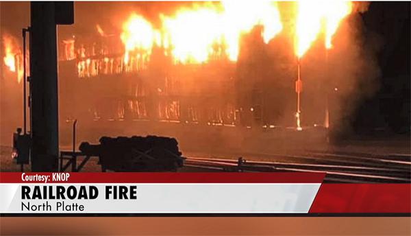 Fire at Union Pacific Railroad