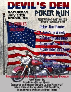 Arnold Devil's Den Poker Run July 11 with Proceeds Going to Mike Nelson & Family