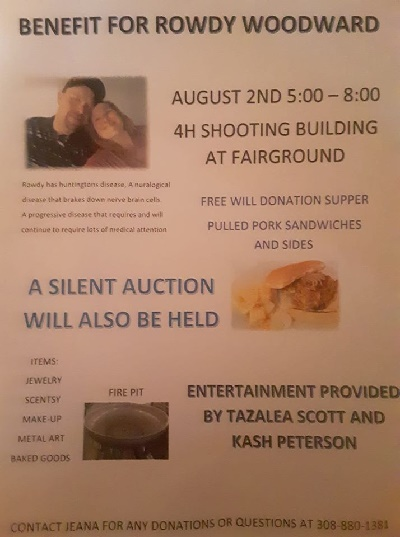 Benefit for Rowdy Woodward August 2 in Broken Bow