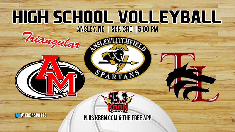Varsity Volleyball on KBBN – A/L triangular with Ansley/Litchfield, Anselmo-Merna, and Twin Loup