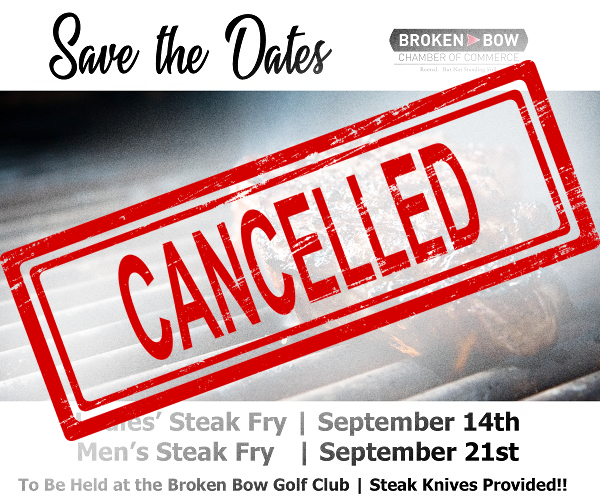 Broken Bow Chamber of Commerce Cancels Annual Steak Fries