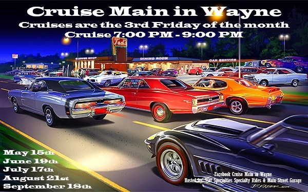 Enjoy Friday's Cruise Night, All Vehicles Welcome