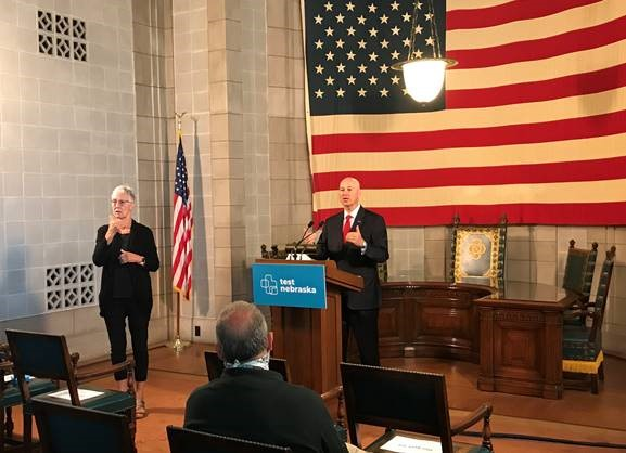 Governor Ricketts Joined By Guests During 'Back To School' Press Briefing