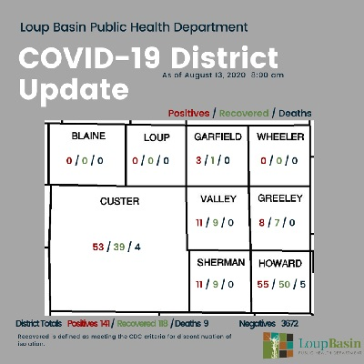 Additional Positive COVID Cases Reported by LBPHD; 1 Recent Death in Howard County