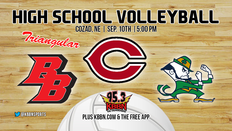 Bow Volleyball at Cozad Triangular on KBBN Highlights Area Sports Calendar