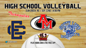 High School Volleyball - Elm Creek Triangular with South Loup and Anselmo-Merna on KBBN