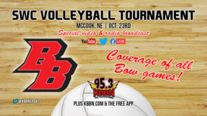 SWC Volleyball Tournament Today - Broken Bow Matches on KBBN and Live Streamed