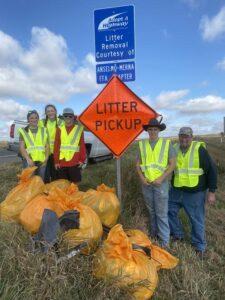 Anselmo-Merna FFA Members Participate in Adopt A Highway Service Project