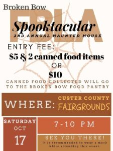 BB FBLA Haunted House this Saturday to Benefit Food Pantry