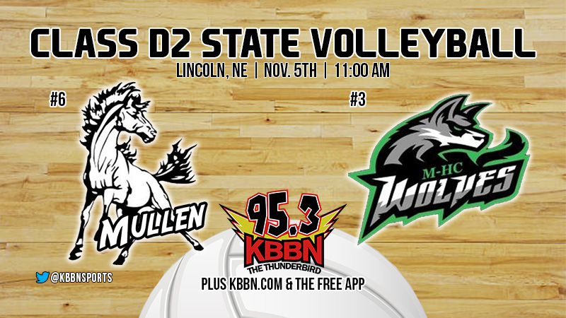 State Volleyball Tournament – Broken Bow Falls in Opening Round – Mullen Begins Play Thursday