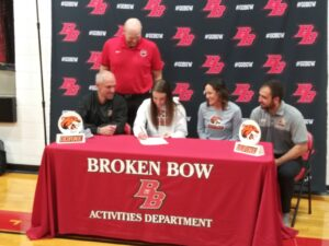 Broken Bow Senior Kali Staples Signs Letter of Intent to Play College Basketball for Doane