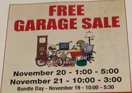 Community Wide Free Garage Sale This Weekend at Broken Bow Berean Church