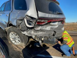 Driver Cited After Rear-Ending NSP Commander's Unmarked Vehicle