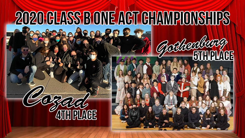 Cozad And Gothenburg Finish 4th And 5th At Play Production Championships; Gretna Earns 27th State Title