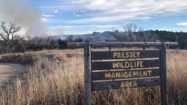 Central Nebraska Fire Departments Respond To Grass Fire At Pressey WMA