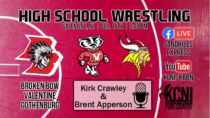 Broken Bow Wrestling at Valentine Triangular on Central Nebraska's Sports Source