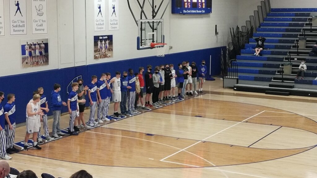 Blue Devil Boys Secure Home Victory During Parent's Night