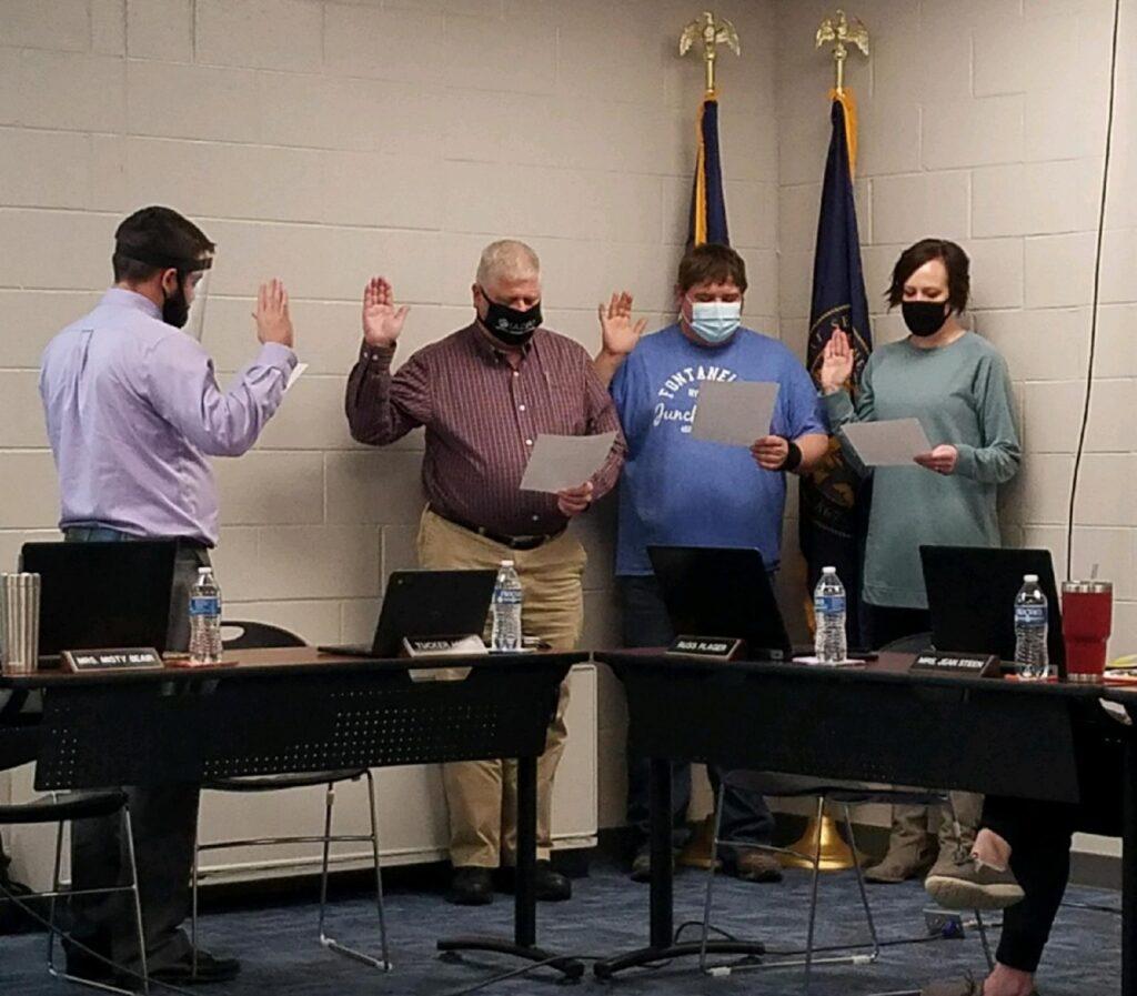 Board Members Sworn In, Organizational Meeting Conducted