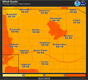 Update: High Wind Watch Upgraded To Warning From Wednesday Night Through Friday
