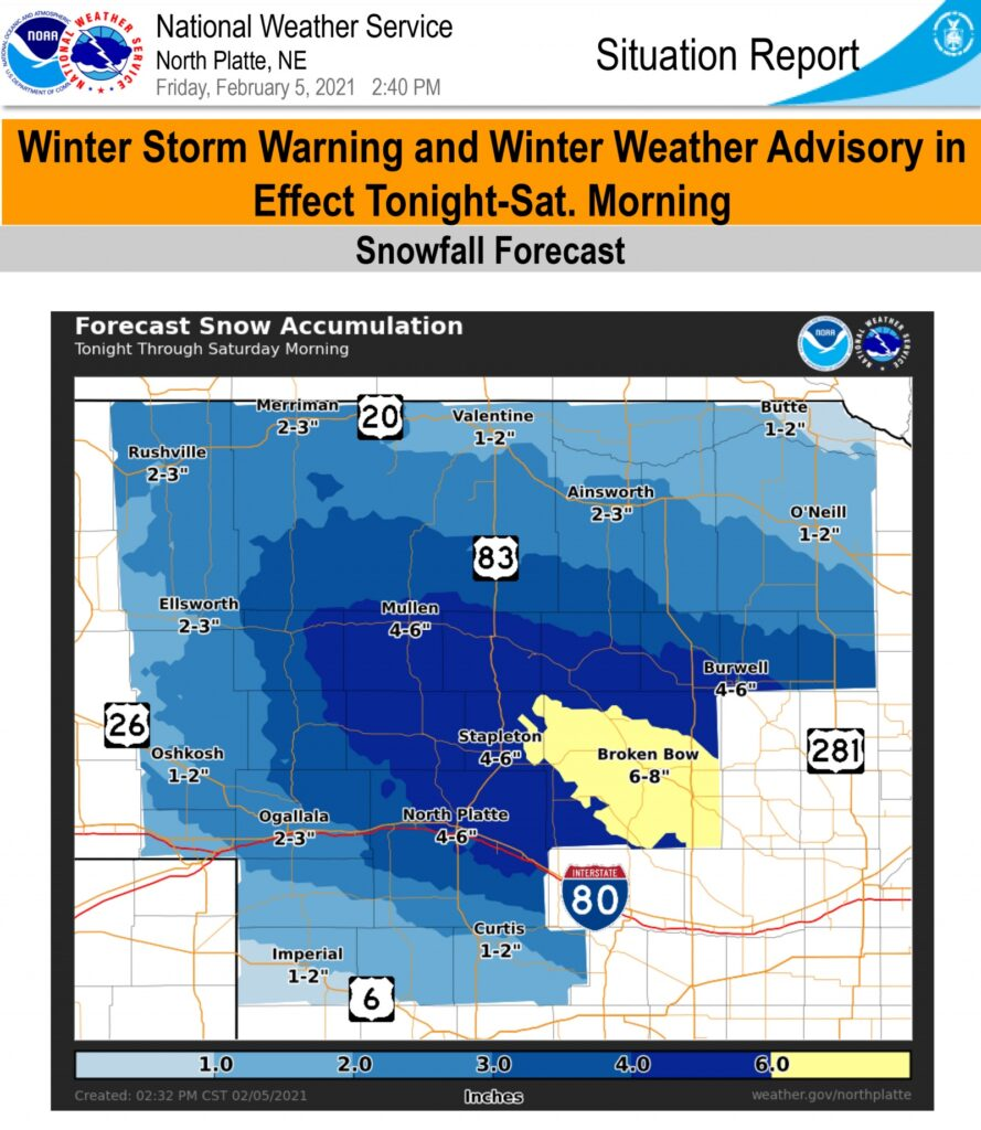 Winter storm warning in effect from 10 pm Friday to 9 am Saturday