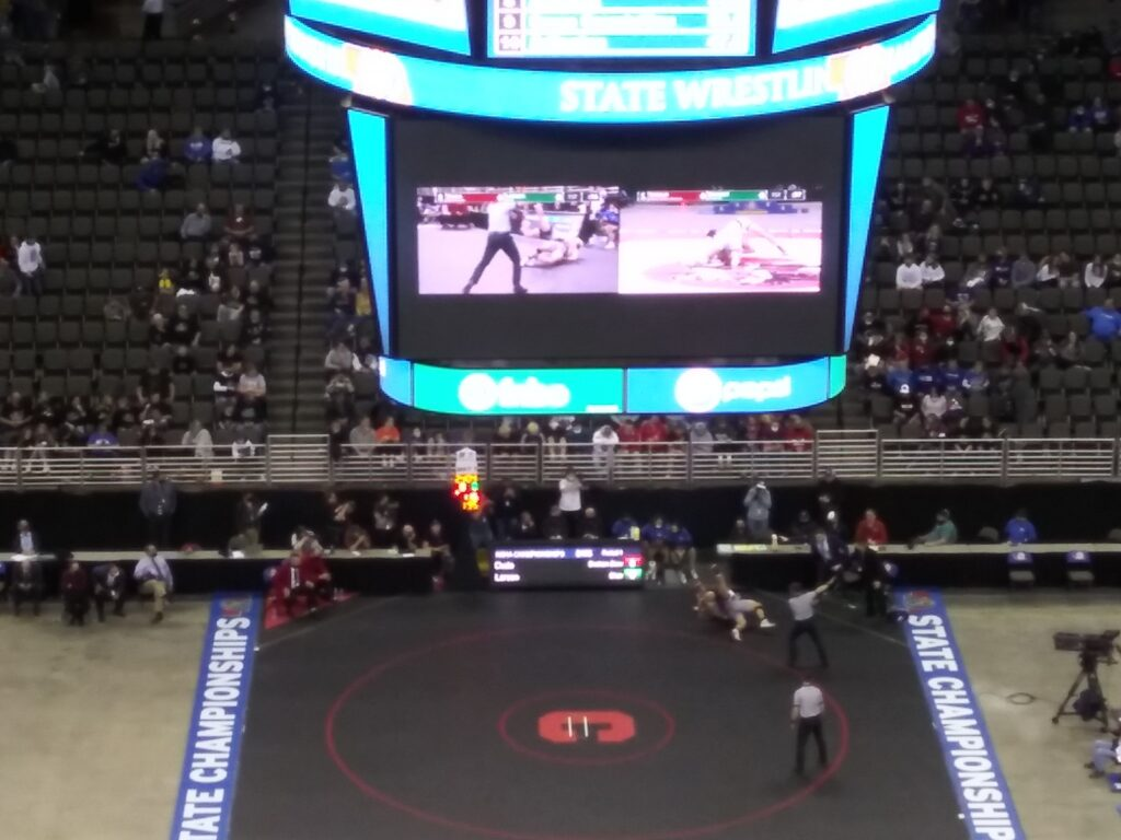Lathan Duda of Broken Bow – Class B 195 lb. State Wrestling Champion!!