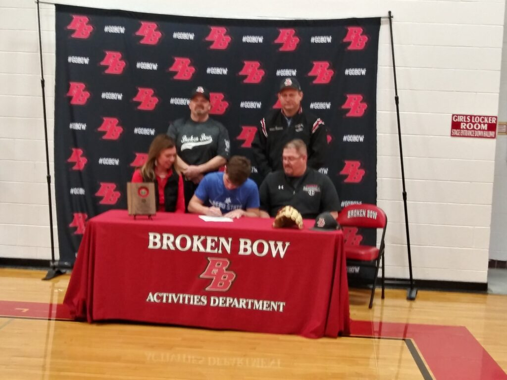 Blake Denson Signs Letter of Intent to Play Baseball for Peru State