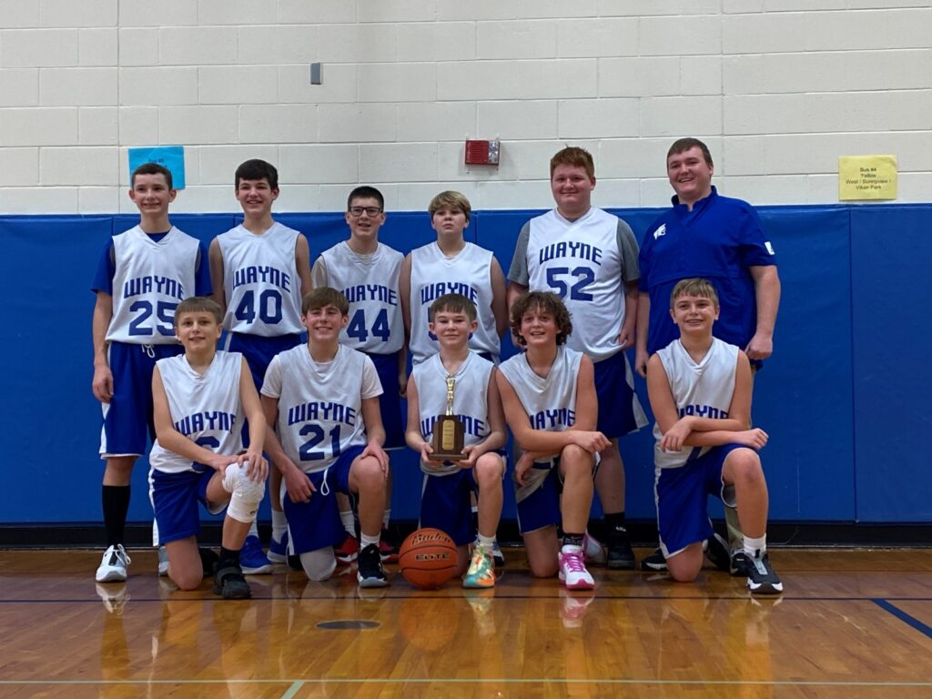 Wayne Seventh Graders Win Home Tourney, Eighth Grade Team Places Runner-up