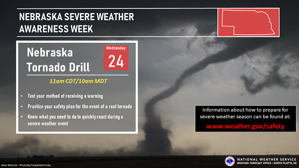 Severe Weather Awareness Week March 22-26; NWS Safety Tips