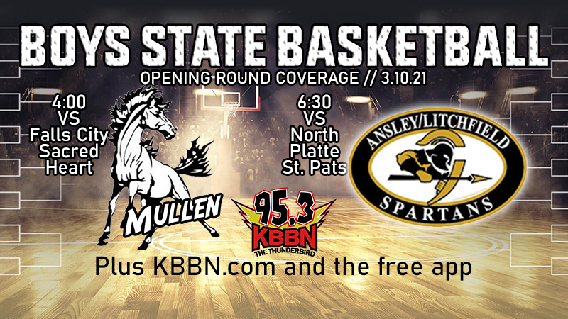 Ansley/Litchfield and Mullen Begin Play at Boys State Basketball on KBBN
