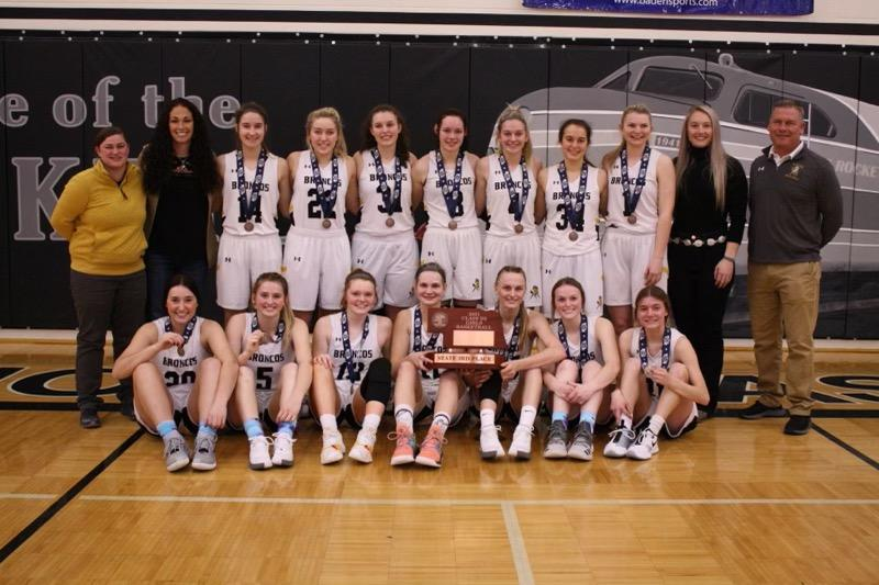 Mullen Girls Finish Third at State Tournament