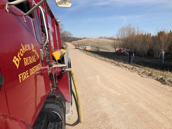 Small Grass Fire Quickly Extinguished Monday Afternoon South-East Of Broken Bow