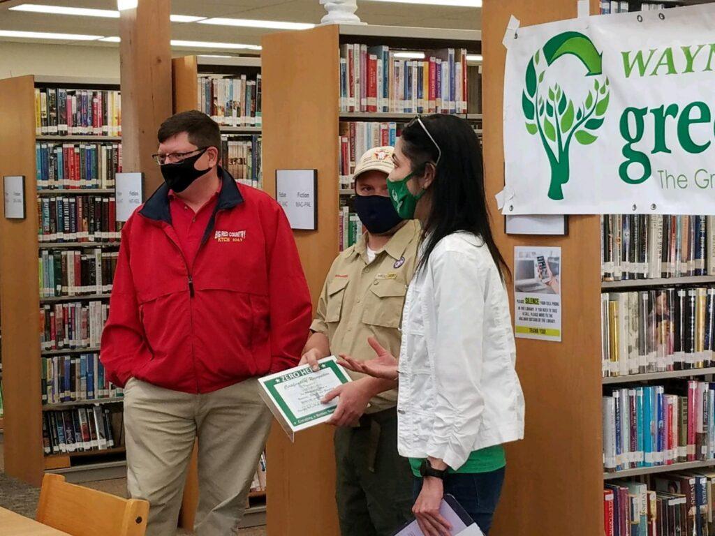 Troop 174 Boy Scouts Recognized As Green Team Zero Hero