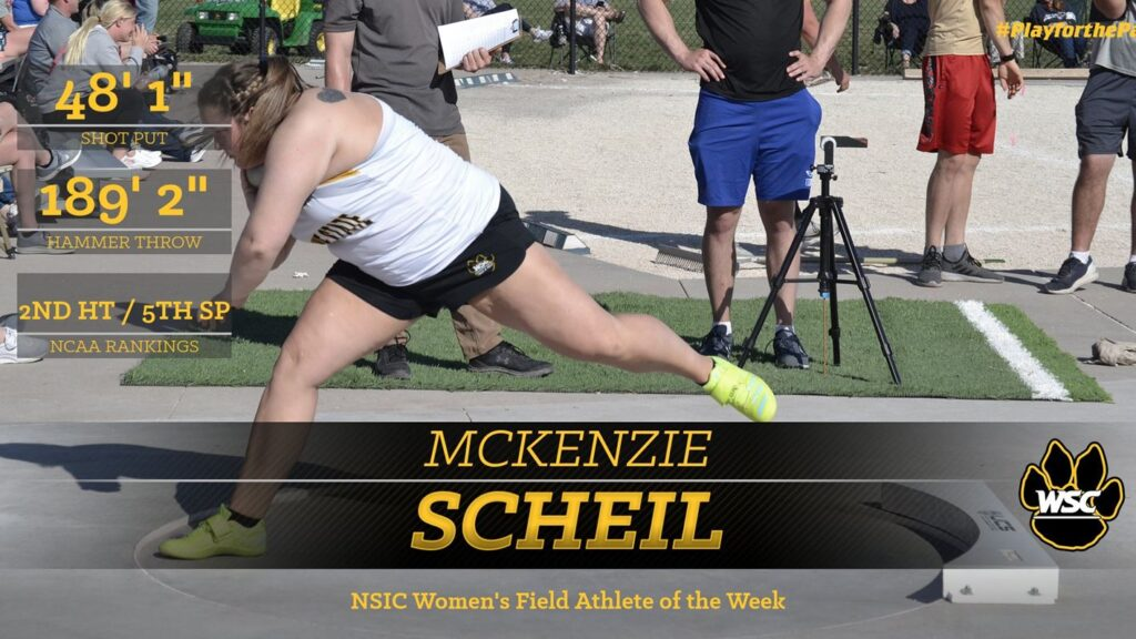 Scheil Named NSIC Women's Field Athlete Of The Week, Allen Recognized Among Top Field Performers