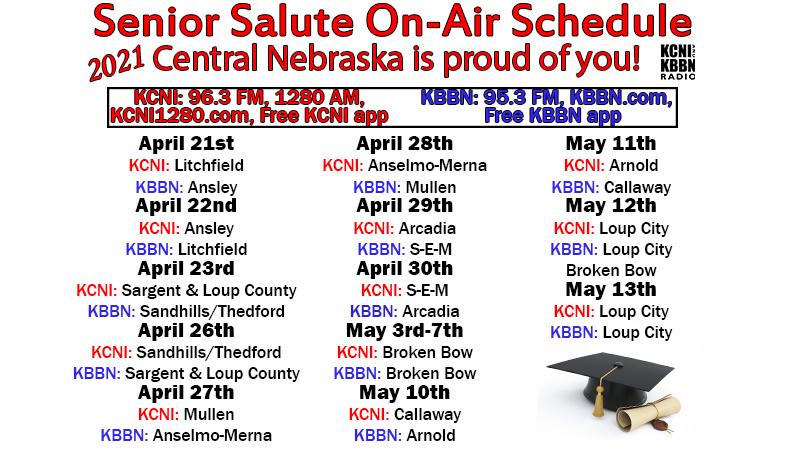 Senior salute schedule