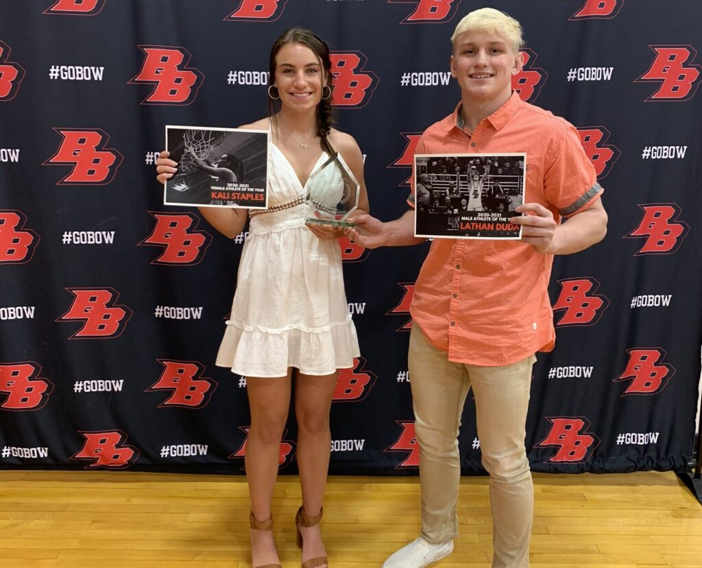 Staples and Duda Named Broken Bow Athletes of the Year