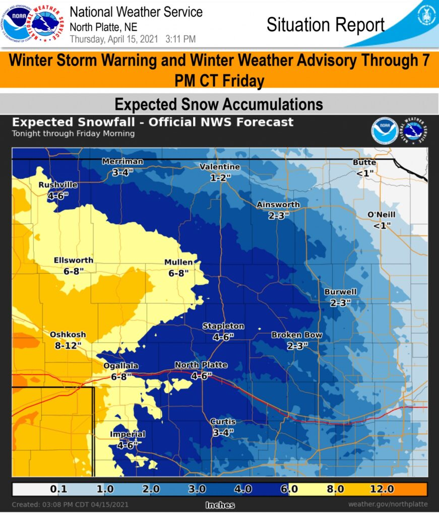 Winters storm warnings and advisories remain in effect through 7 PM Friday
