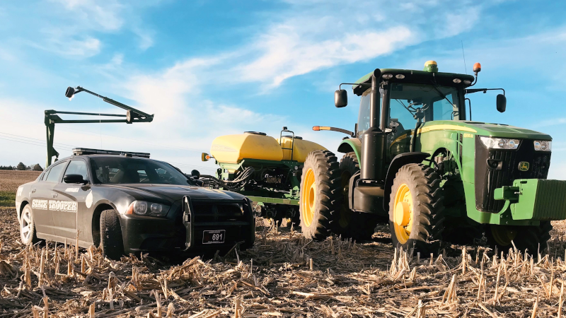 NSP Reminds Drivers to Stay Alert with Ag Implements on the Move